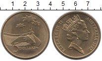 Изображение Мелочь Австралия 5 долларов 1992 Латунь UNC
