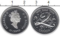 Изображение Монеты Канада 25 центов 2000 Серебро Proof- Елизавета II.  Гордо