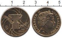 Изображение Монеты Австралия 1 доллар 2012 Латунь UNC Елизавета II.  Тенни
