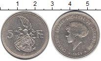 Изображение Монеты Люксембург 5 франков 1929 Серебро XF Герцогиня  Люксембур