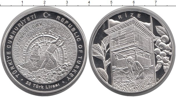 Картинка Монеты Турция 20 лир Серебро 2016