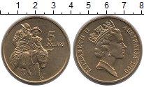 Изображение Монеты Австралия 5 долларов 1990 Латунь UNC
