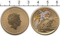 Изображение Монеты Австралия 1 доллар 2014 Латунь UNC Тампопечать.  Елизав
