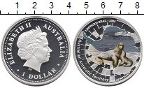 Изображение Монеты Австралия 1 доллар 2005 Серебро Proof Цифровая  печать.  Е