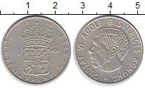 Изображение Монеты Швеция 1 крона 1963 Серебро XF