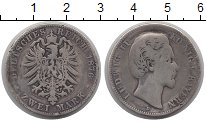 Изображение Монеты Германия Бавария 2 марки 1876 Серебро F