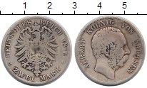 Изображение Монеты Саксония 2 марки 1876 Серебро F Альберт