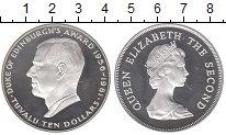 Изображение Монеты Тувалу 10 долларов 1981 Серебро Proof Елизавета II.  Герцо