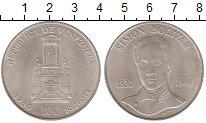 Изображение Монеты Венесуэла 100 боливар 1980 Серебро UNC- Симон Боливар