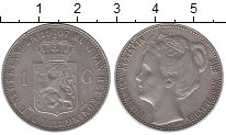 Изображение Монеты Нидерланды 1 гульден 1907 Серебро XF