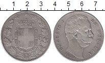 Изображение Монеты Италия 5 лир 1879 Серебро VF Умберто I