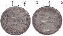 Изображение Монеты Ватикан 20 байочи 1865 Серебро XF