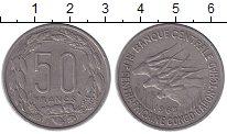 Изображение Монеты Центральная Африка 50 франков 1963 Медно-никель XF-