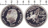 Изображение Монеты Испания 10 евро 2007 Серебро Proof 50 - летие  Римского