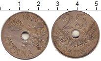 Изображение Монеты Испания 25 сентимо 1927 Медно-никель XF