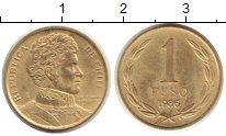 Изображение Монеты Чили 1 песо 1986 Латунь XF
