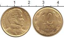 Изображение Монеты Чили 10 песо 1993 Латунь XF