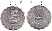 Изображение Монеты Руанда 2 франка 1970 Алюминий XF+