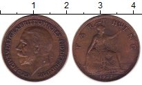 Изображение Монеты Великобритания 1 фартинг 1927 Медь VF