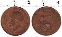 Изображение Монеты Великобритания 1 фартинг 1922 Медь VF