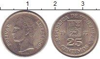 Изображение Монеты Венесуэла 25 сентим 1977 Медно-никель XF