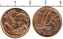 Изображение Монеты Бразилия 10 сентаво 1998 Латунь XF