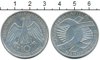 Изображение Монеты ФРГ 10 марок 1972 Серебро XF+ Олимриада в Мюнхене