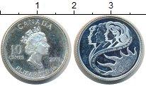 Изображение Монеты Канада 10 центов 2001 Серебро Proof-