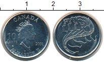 Изображение Монеты Канада 10 центов 2001 Медно-никель UNC-
