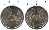 Изображение Мелочь Испания 2 евро 2005 Биметалл UNC- 400-летие первого из
