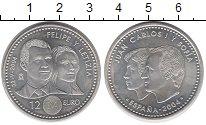 Изображение Монеты Испания 12 евро 2004 Серебро UNC- Филипп и Летиция