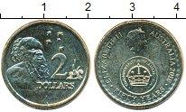 Изображение Мелочь Австралия 2 доллара 2016 Латунь UNC- 50 лет перехода на д