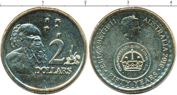 Картинка Мелочь Австралия 2 доллара Латунь 2016