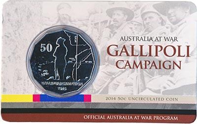 Изображение Подарочные монеты Австралия 50 центов 2014 Медно-никель