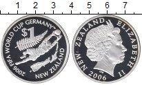 Изображение Монеты Новая Зеландия 1 доллар 2006 Серебро Proof