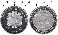 Изображение Монеты Андорра 10 динерс 2003 Серебро Proof