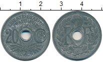 Изображение Монеты Франция 20 сентим 1945 Цинк UNC-