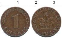 Изображение Монеты ФРГ 1 пфенниг 1948 Бронза XF