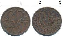 Изображение Монеты Польша 1 грош 1930 Бронза XF