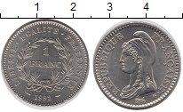 Изображение Монеты Франция 1 франк 1992 Медно-никель UNC- Марианна - символ  Ф