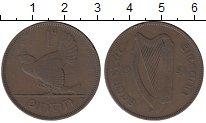 Изображение Монеты Ирландия 1 пенни 1931 Бронза XF Курица  с  цыплятами