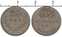 Изображение Монеты Швеция 25 эре 1917 Серебро XF