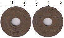 Изображение Монеты Великобритания Восточная Африка 5 центов 1941 Бронза XF
