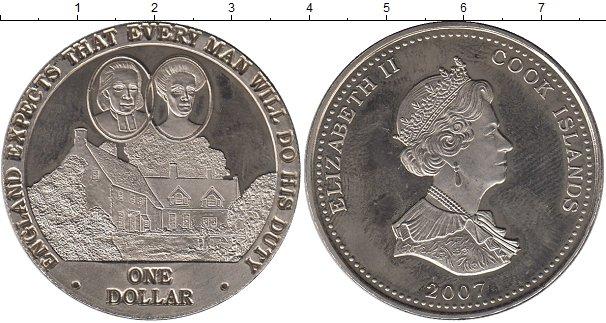 Картинка Монеты Острова Кука 1 доллар Медно-никель 2007