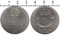 Изображение Монеты ГДР 20 марок 1983 Медно-никель UNC- Карл Маркс А