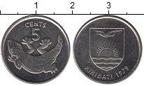 Изображение Монеты Кирибати 5 центов 1979 Медно-никель UNC- Геккон