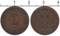 Изображение Монеты Германия 2 пфеннига 1912 Медь XF