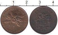 Изображение Монеты Ямайка 1 цент 1971 Медь UNC-
