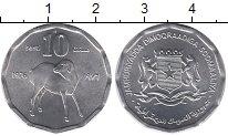 Изображение Монеты Сомали 10 сенти 1976 Алюминий UNC-