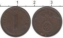 Изображение Монеты Третий Рейх 1 пфенниг 1937 Бронза UNC- Е